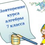 «Повторение основных тем курса алгебры 7 класса», презентация для урока математики